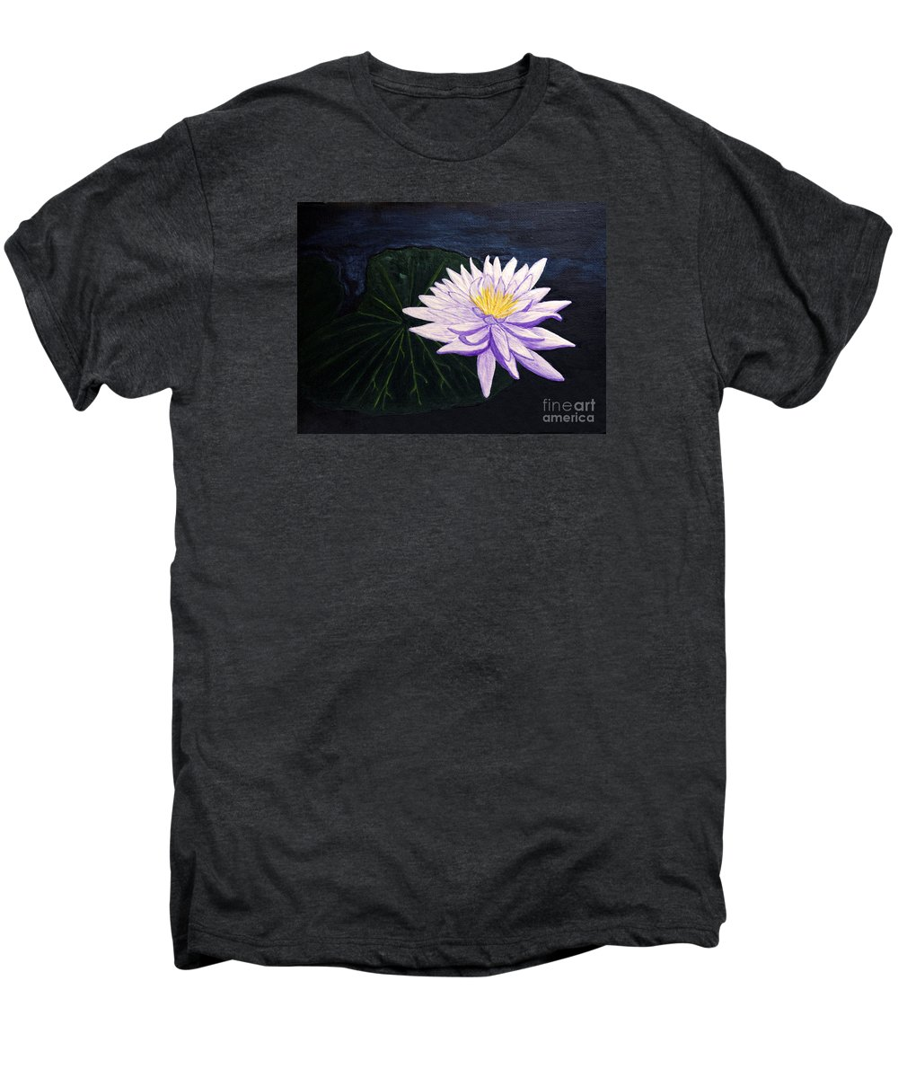 Original Painting Men's Premium T-Shirt featuring the painting Lotus Blossom At Night by Patricia Griffin Brett