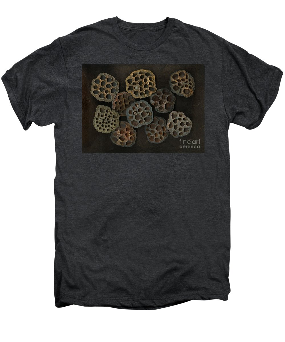 Lotus Men's Premium T-Shirt featuring the photograph Lotus Pods by Christian Slanec