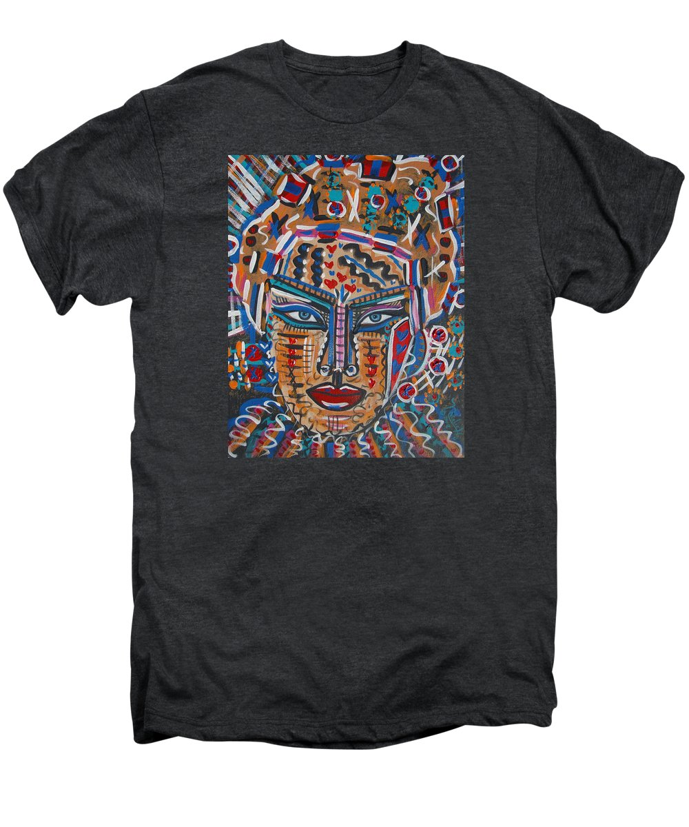 Abstract Men's Premium T-Shirt featuring the painting Loviola by Natalie Holland