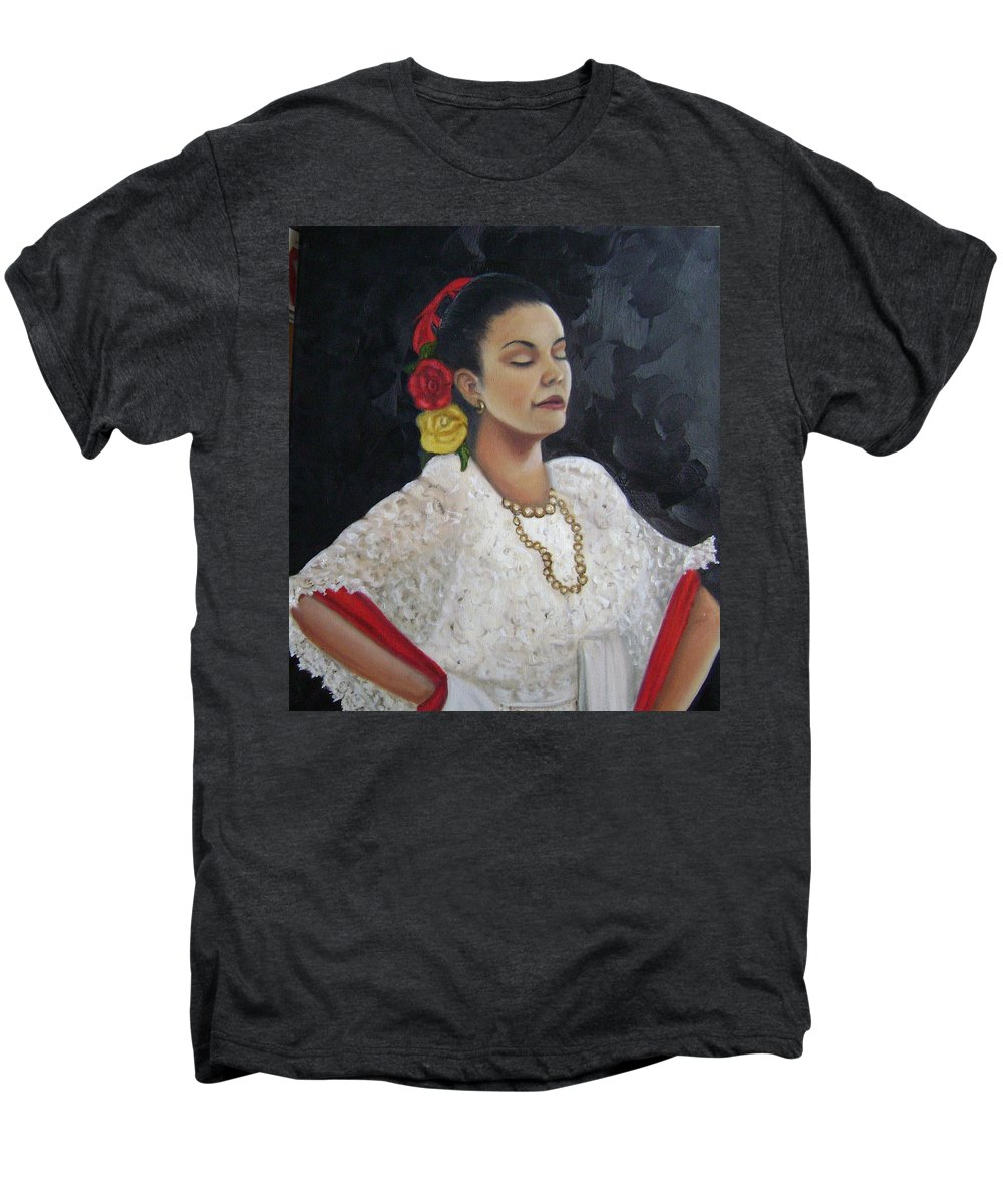 Men's Premium T-Shirt featuring the painting Lucinda by Toni Berry