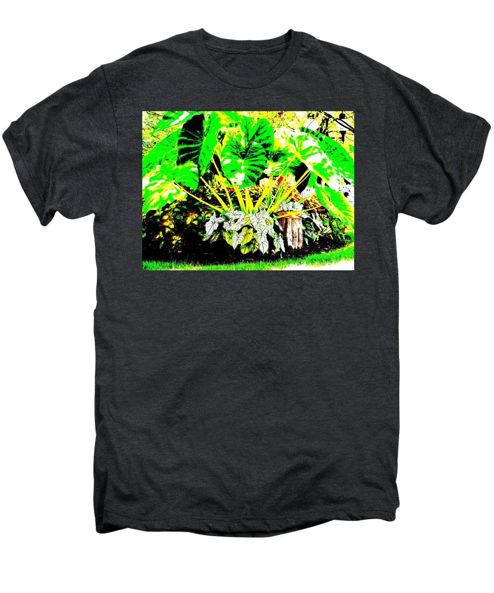 Plants Men's Premium T-Shirt featuring the photograph Lush Garden by Ed Smith