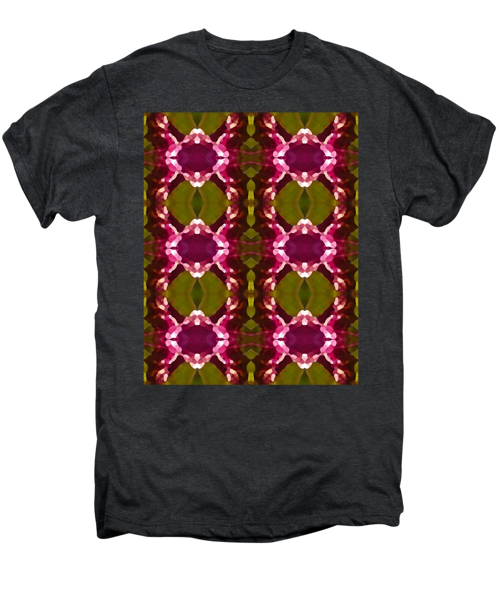 Abstract Men's Premium T-Shirt featuring the painting Magenta Crystal Pattern by Amy Vangsgard