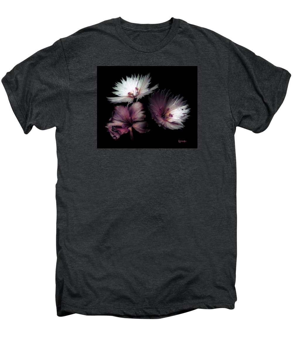 Dianthus Men's Premium T-Shirt featuring the painting Maiden Mother Crone by RC deWinter