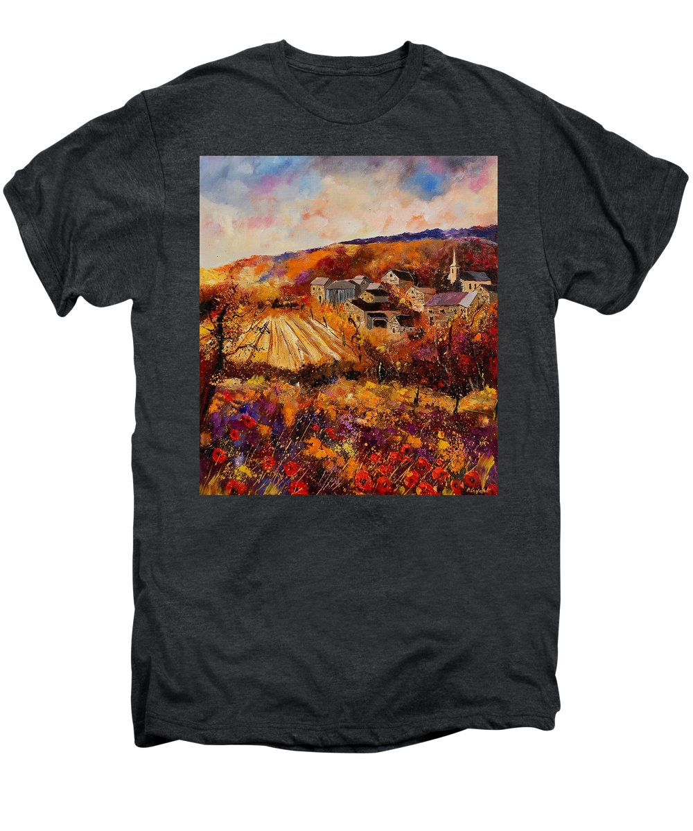 Poppies Men's Premium T-Shirt featuring the painting Maissin by Pol Ledent