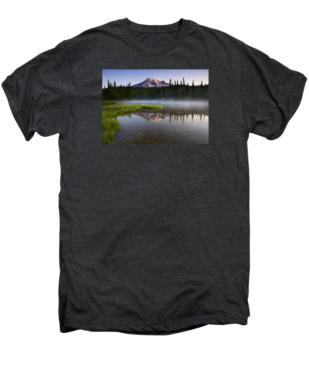 Lake Men's Premium T-Shirt featuring the photograph Majestic Dawn by Mike Dawson