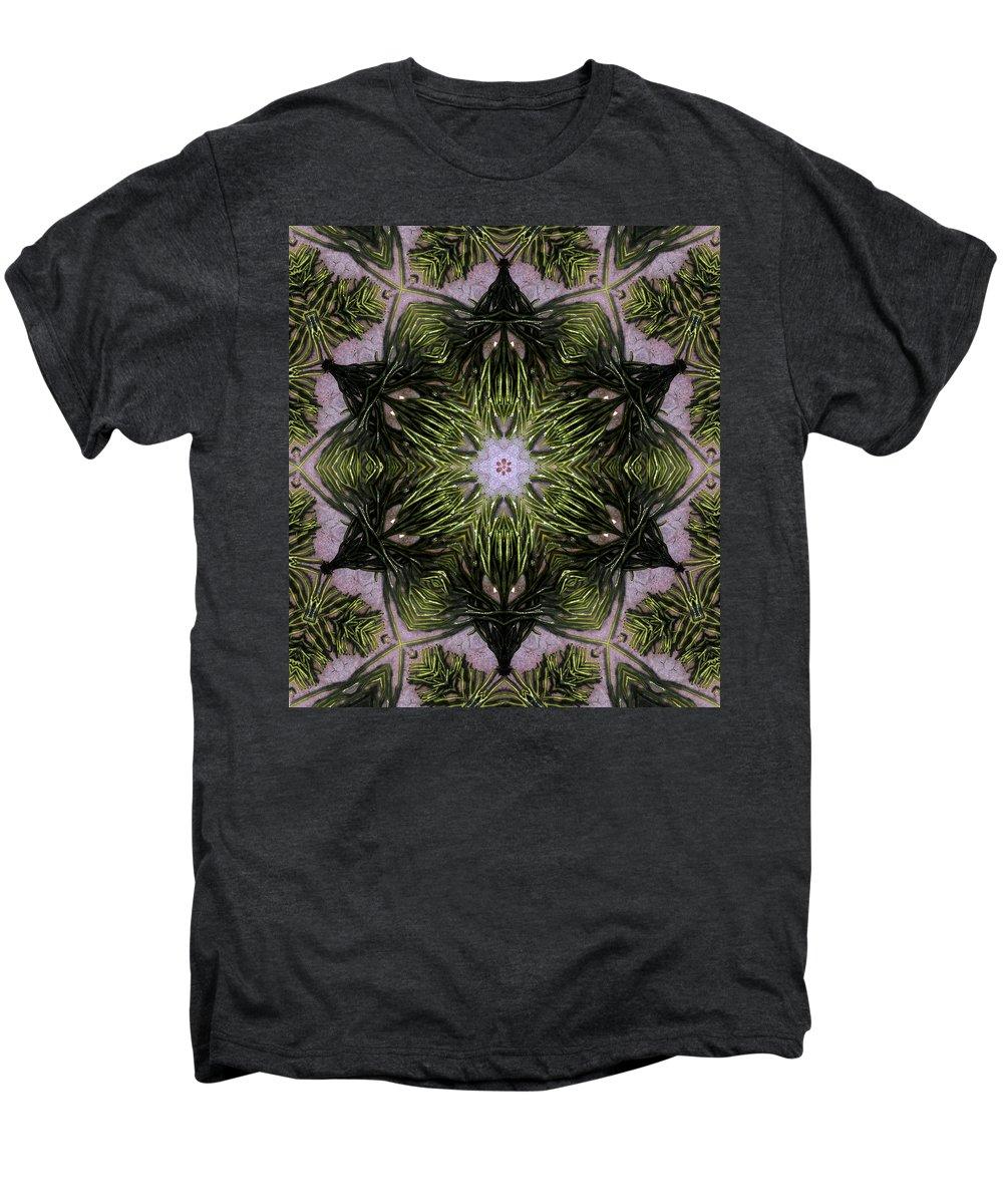 Mandala Men's Premium T-Shirt featuring the digital art Mandala Sea Sponge by Nancy Griswold