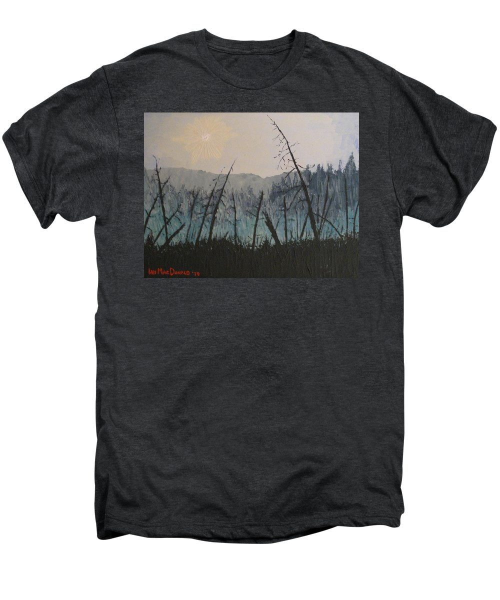 Northern Ontario Men's Premium T-Shirt featuring the painting Manitoulin Beaver Meadow by Ian MacDonald