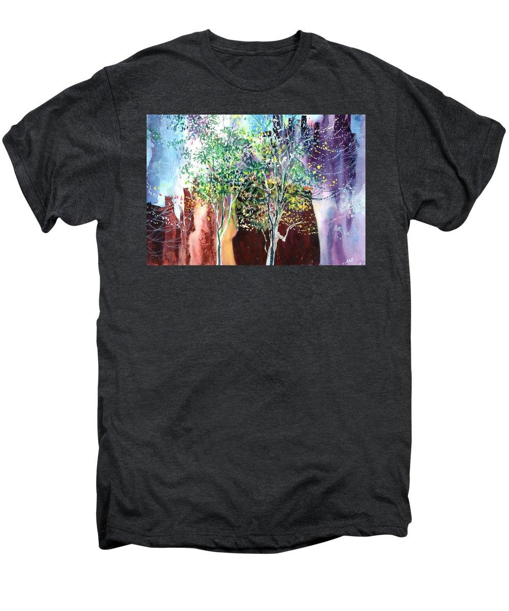 Nature Men's Premium T-Shirt featuring the painting Maya by Anil Nene