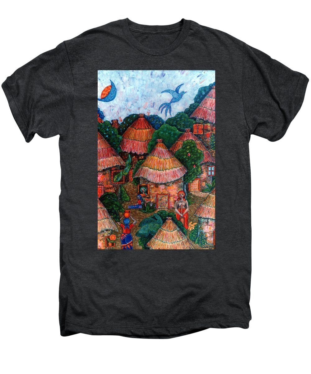 Africa Men's Premium T-Shirt featuring the painting Maybe That Was My Country by Madalena Lobao-Tello
