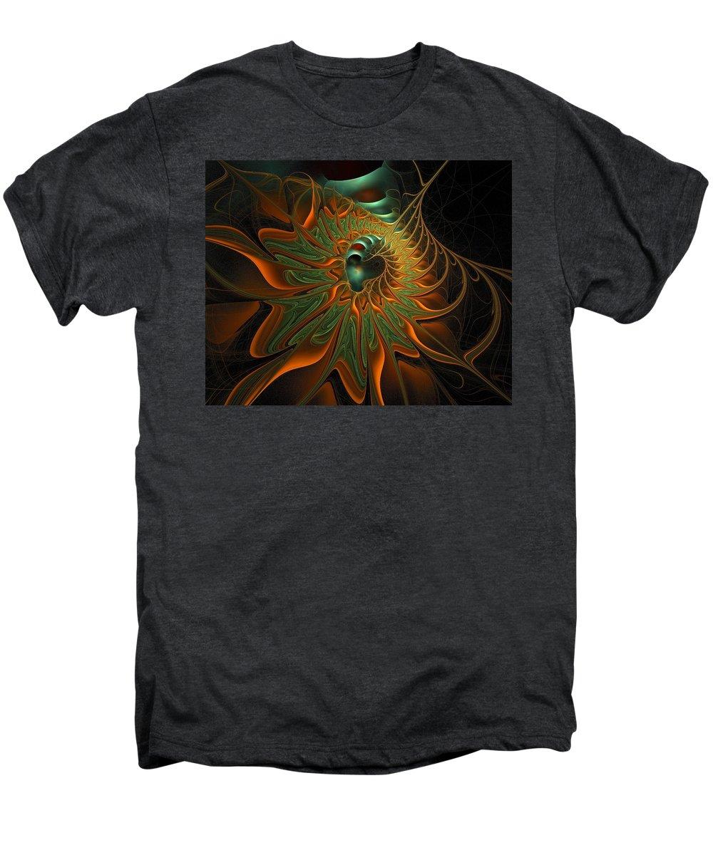 Digital Art Men's Premium T-Shirt featuring the digital art Meandering by Amanda Moore