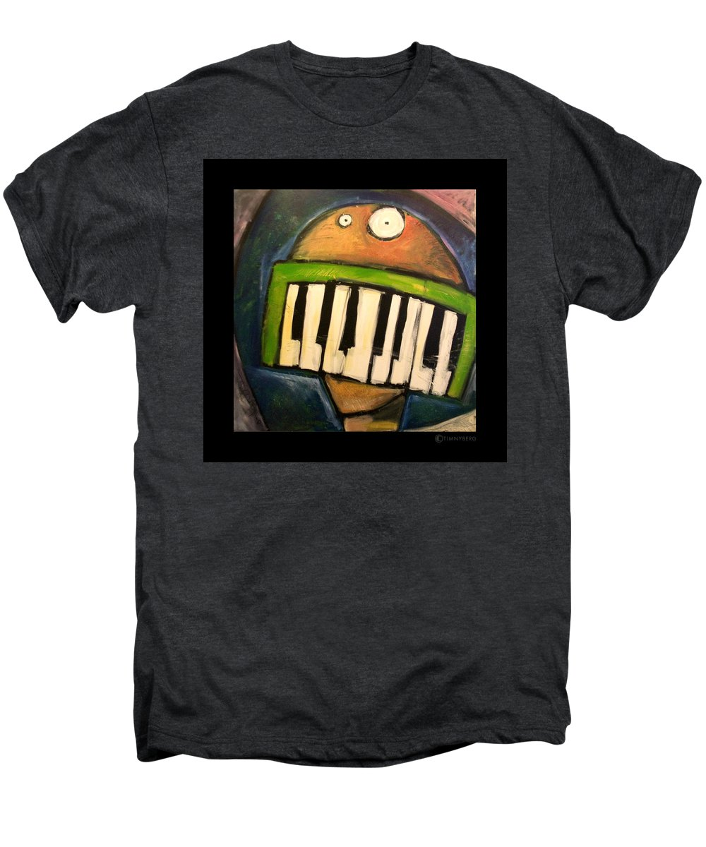 Funny Men's Premium T-Shirt featuring the painting Melodica Mouth by Tim Nyberg