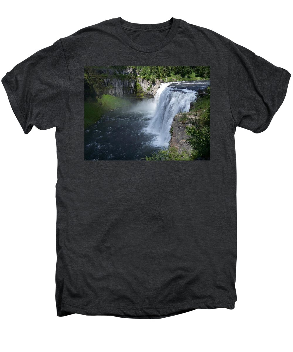 Landscape Men's Premium T-Shirt featuring the photograph Mesa Falls by Gale Cochran-Smith
