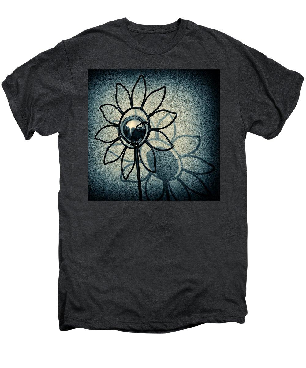 Sunflower Men's Premium T-Shirt featuring the photograph Metal Flower by Dave Bowman