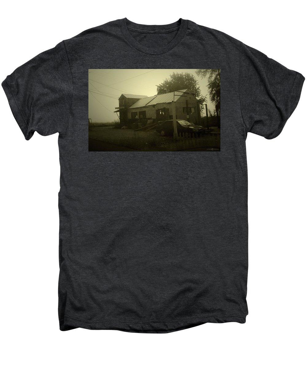 Milltown Men's Premium T-Shirt featuring the photograph Milltown Merchantile by Tim Nyberg