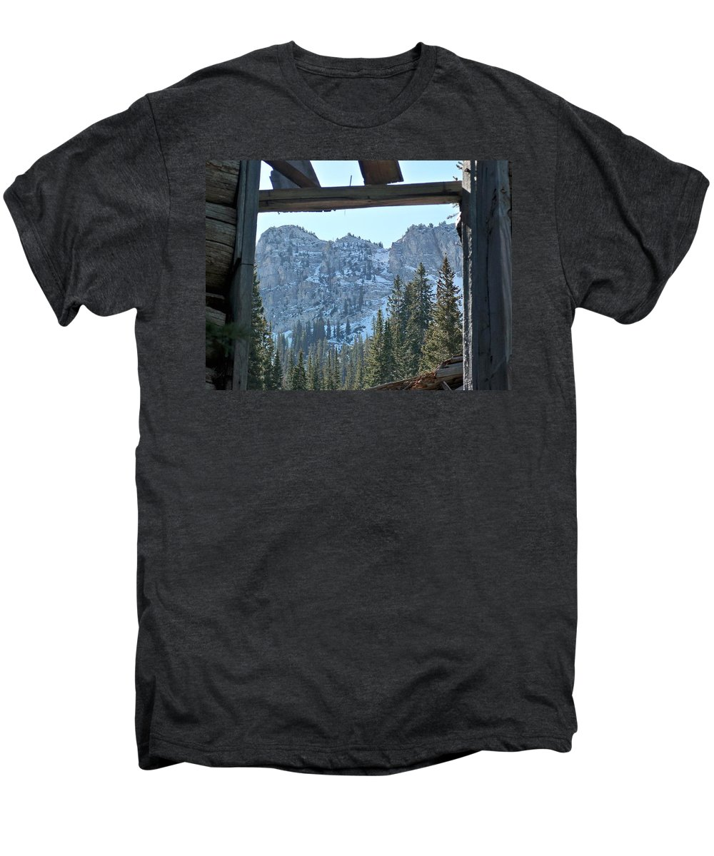 Mountain Men's Premium T-Shirt featuring the photograph Miners Lost View by Michael Cuozzo