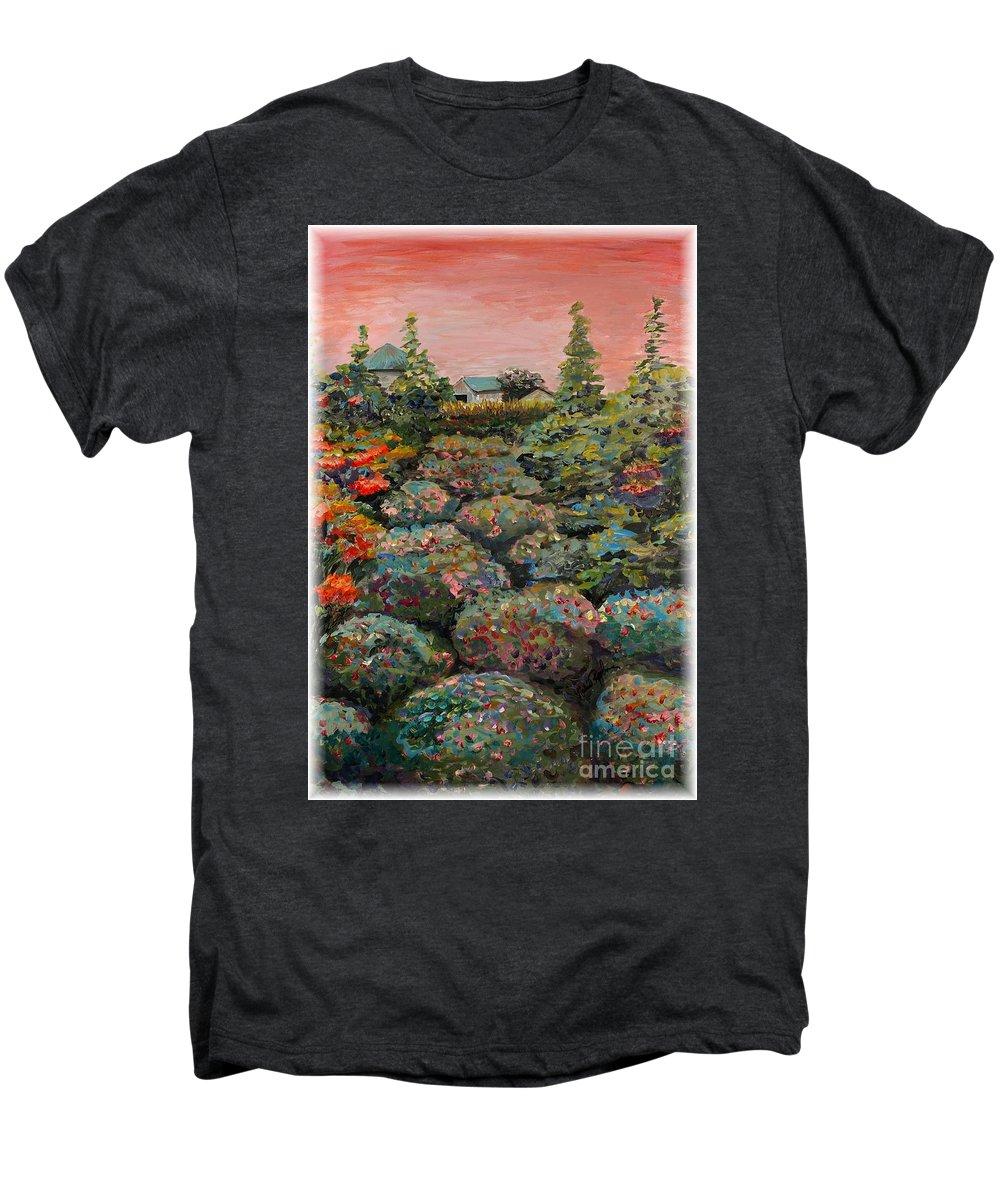 Minnesota Men's Premium T-Shirt featuring the painting Minnesota Memories by Nadine Rippelmeyer