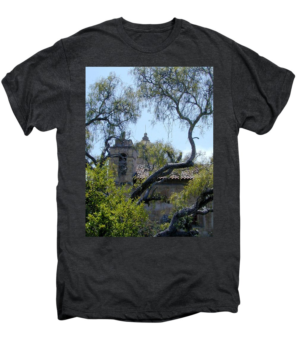 Mission Men's Premium T-Shirt featuring the photograph Mission At Carmell by Douglas Barnett