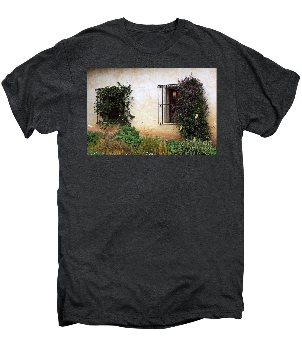 Vines Men's Premium T-Shirt featuring the photograph Mission Windows by Carol Groenen