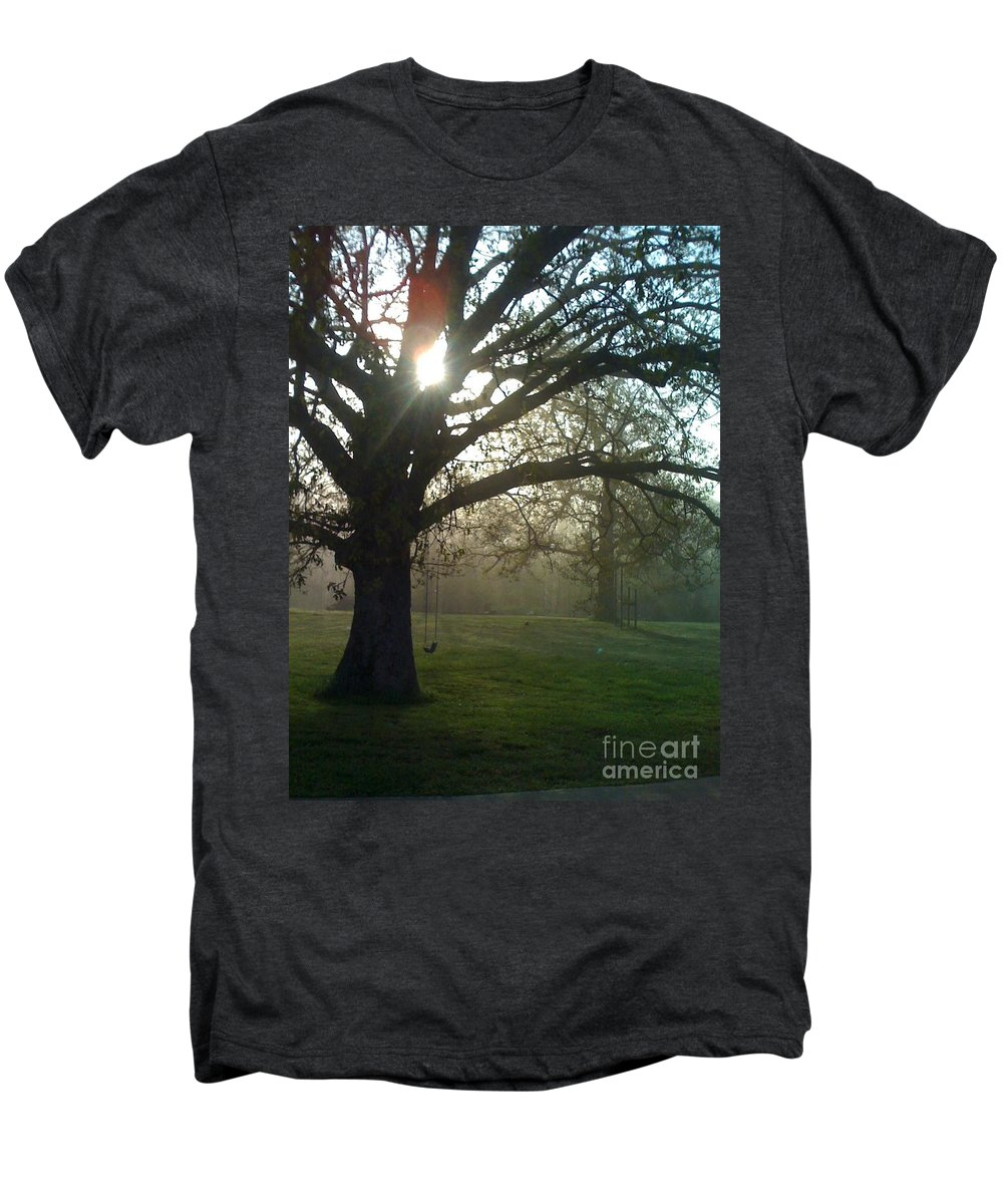 Mist Men's Premium T-Shirt featuring the photograph Misty Morning by Nadine Rippelmeyer