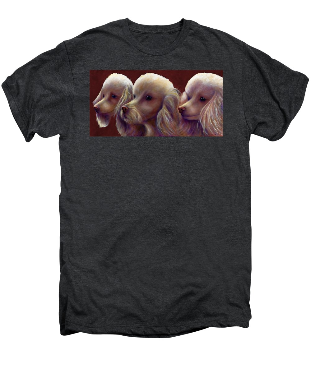 Dogs Men's Premium T-Shirt featuring the painting Molly Charlie And Abby by Shannon Grissom