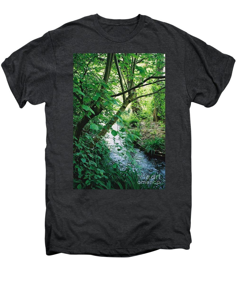 Photography Men's Premium T-Shirt featuring the photograph Monet's Garden Stream by Nadine Rippelmeyer