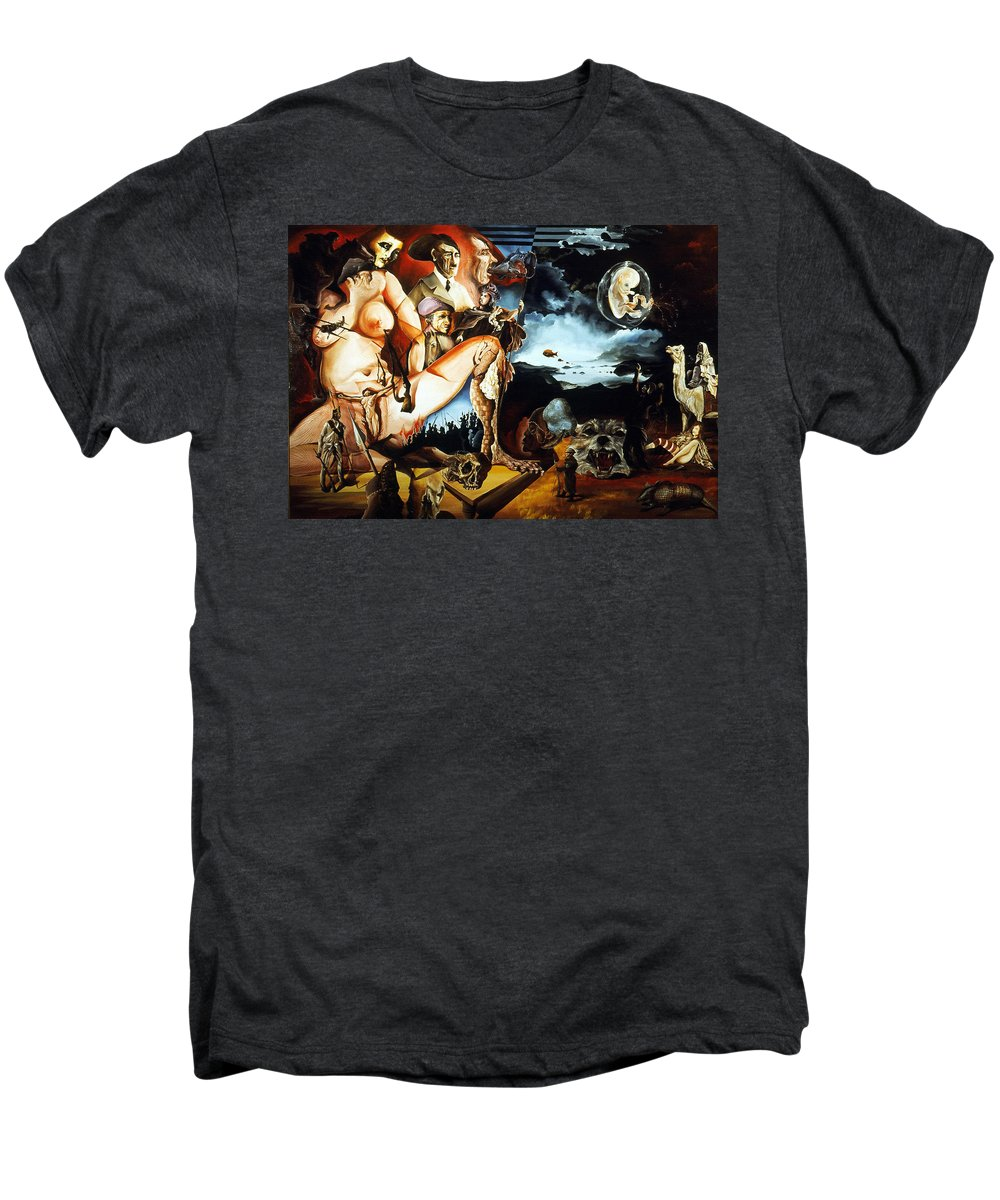 War Men's Premium T-Shirt featuring the painting Monument To The Unborn War Hero by Otto Rapp