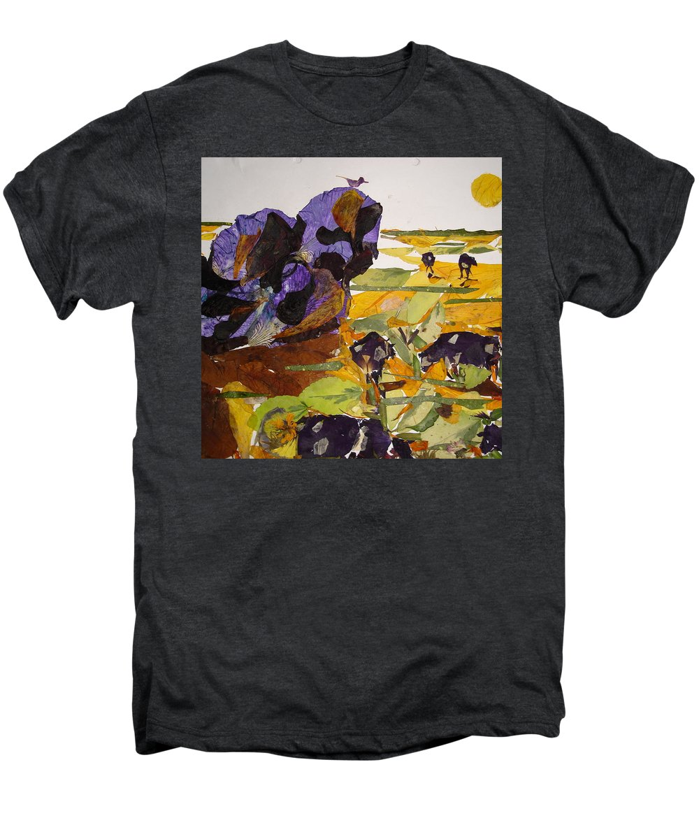 Glory Of Morning Men's Premium T-Shirt featuring the mixed media Morning Activities by Basant Soni