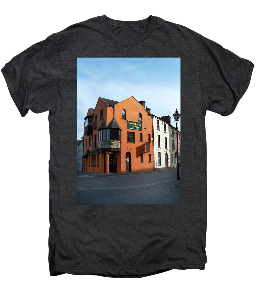 Ireland Men's Premium T-Shirt featuring the photograph Mother India Restaurant Athlone Ireland by Teresa Mucha