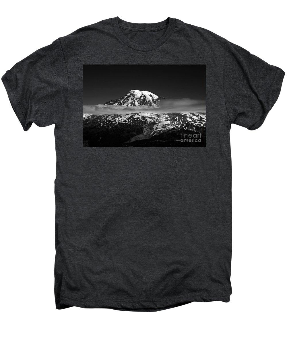 Mount Rainier Men's Premium T-Shirt featuring the photograph Mount Rainier by David Lee Thompson