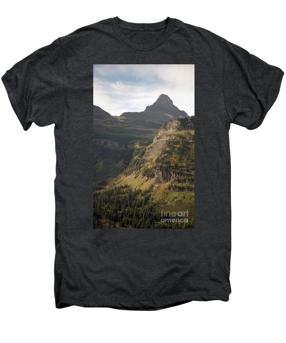 Glacier Men's Premium T-Shirt featuring the photograph Mountain Glacier by Richard Rizzo