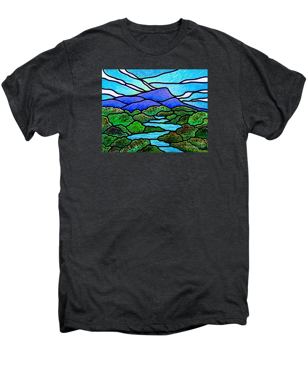 Paintings Men's Premium T-Shirt featuring the painting Mountain Glory by Jim Harris