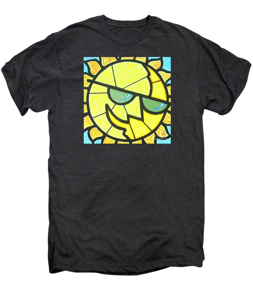 Sunshine Men's Premium T-Shirt featuring the painting Mr Sunny Day by Jim Harris