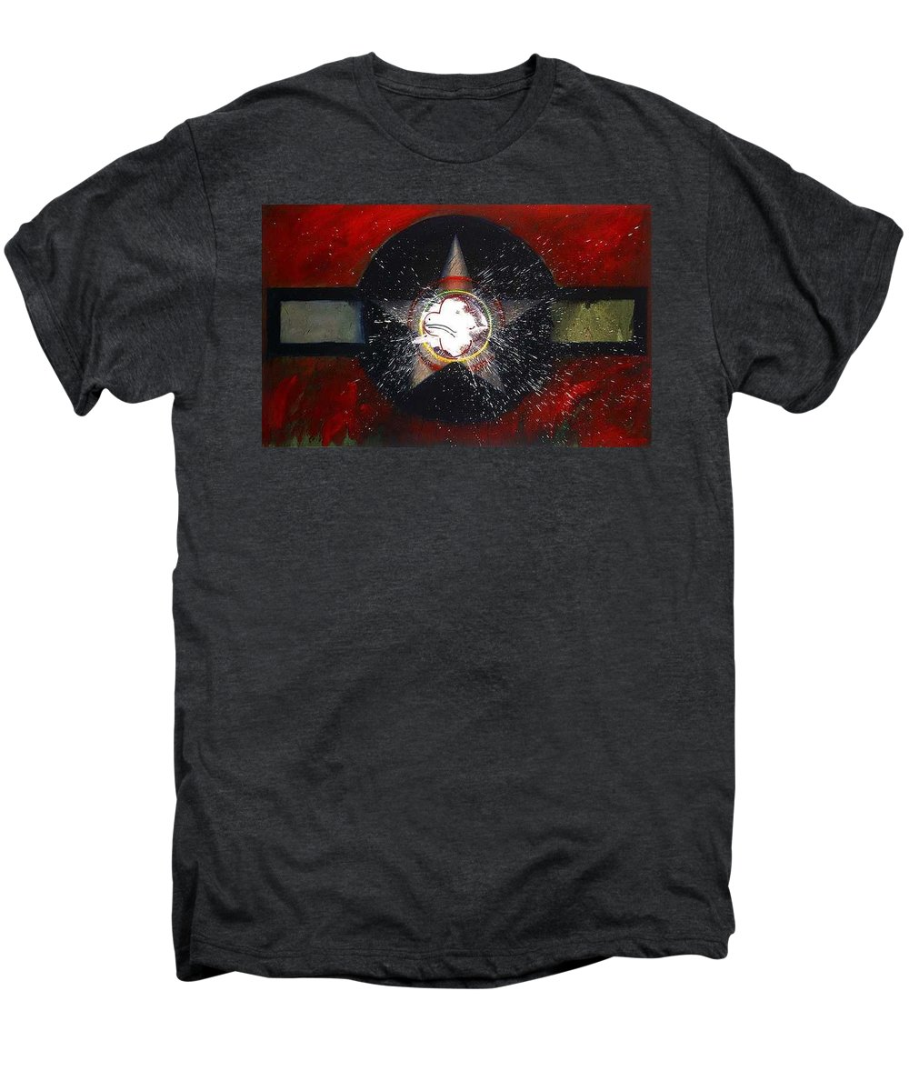 Usaaf Insignia Men's Premium T-Shirt featuring the painting My Indian Red by Charles Stuart