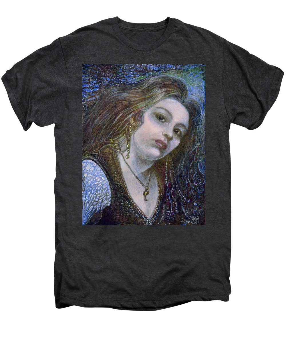 Fantasy Men's Premium T-Shirt featuring the painting My Mermaid Christan by Otto Rapp