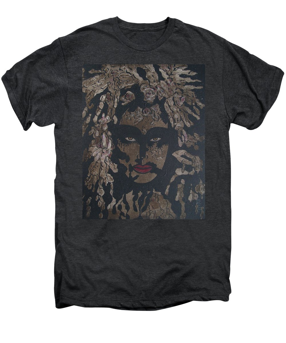 Figurative Men's Premium T-Shirt featuring the painting Mysterious Desire by Natalie Holland
