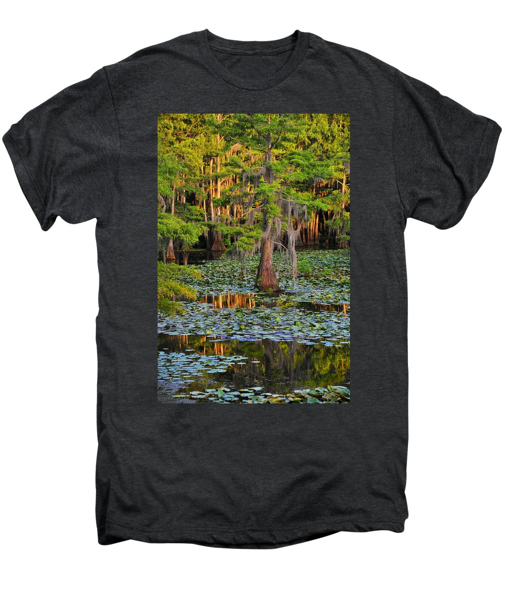 Bog Men's Premium T-Shirt featuring the photograph Naked by Skip Hunt