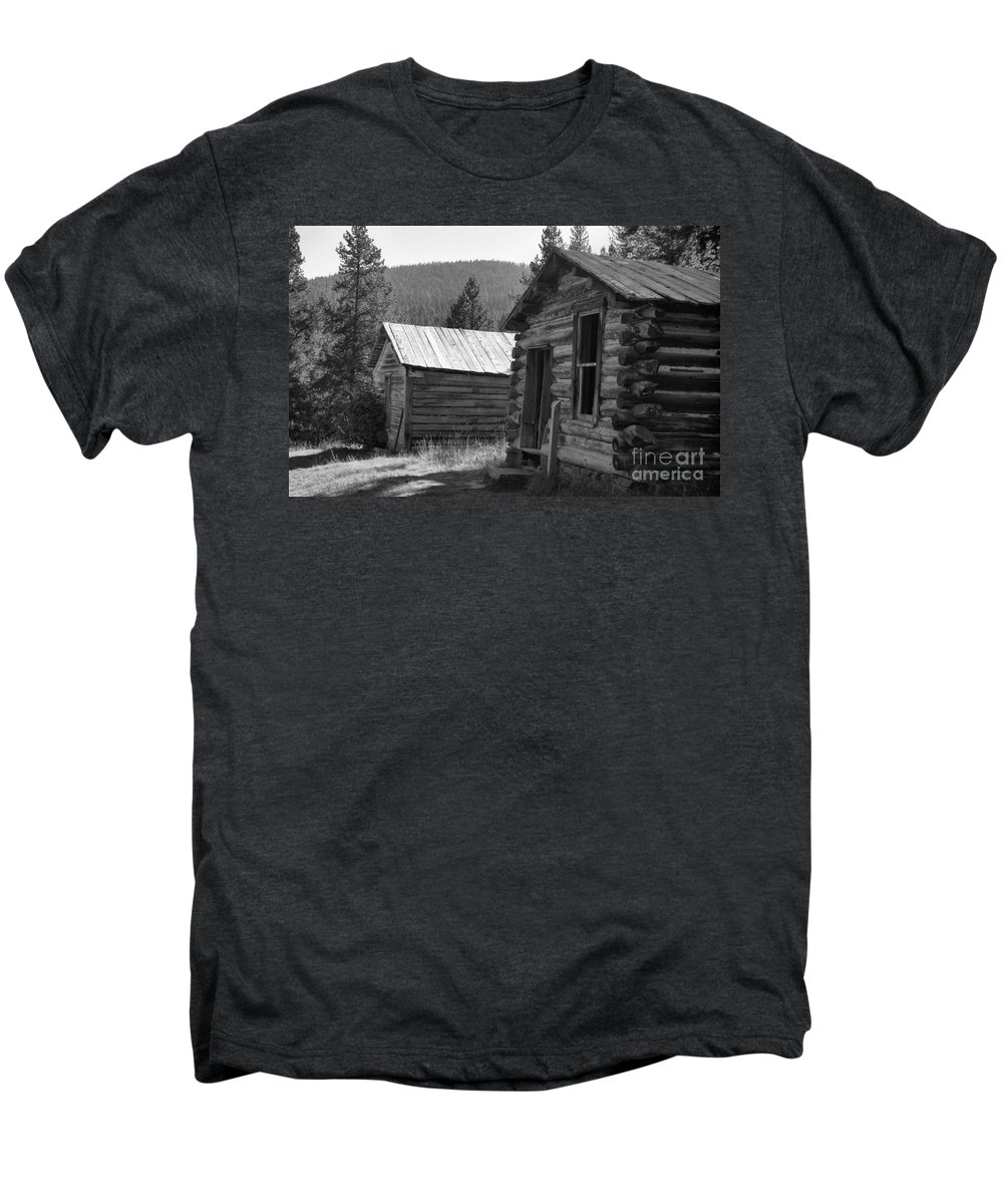 Abandoned Men's Premium T-Shirt featuring the photograph Neighbors by Richard Rizzo