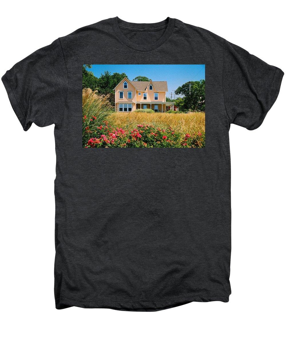 Landscape Men's Premium T-Shirt featuring the photograph New Jersey Landscape by Steve Karol