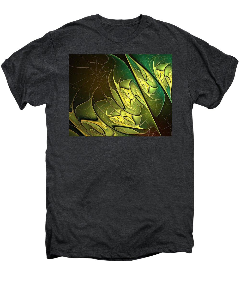 Digital Art Men's Premium T-Shirt featuring the digital art New Leaves by Amanda Moore