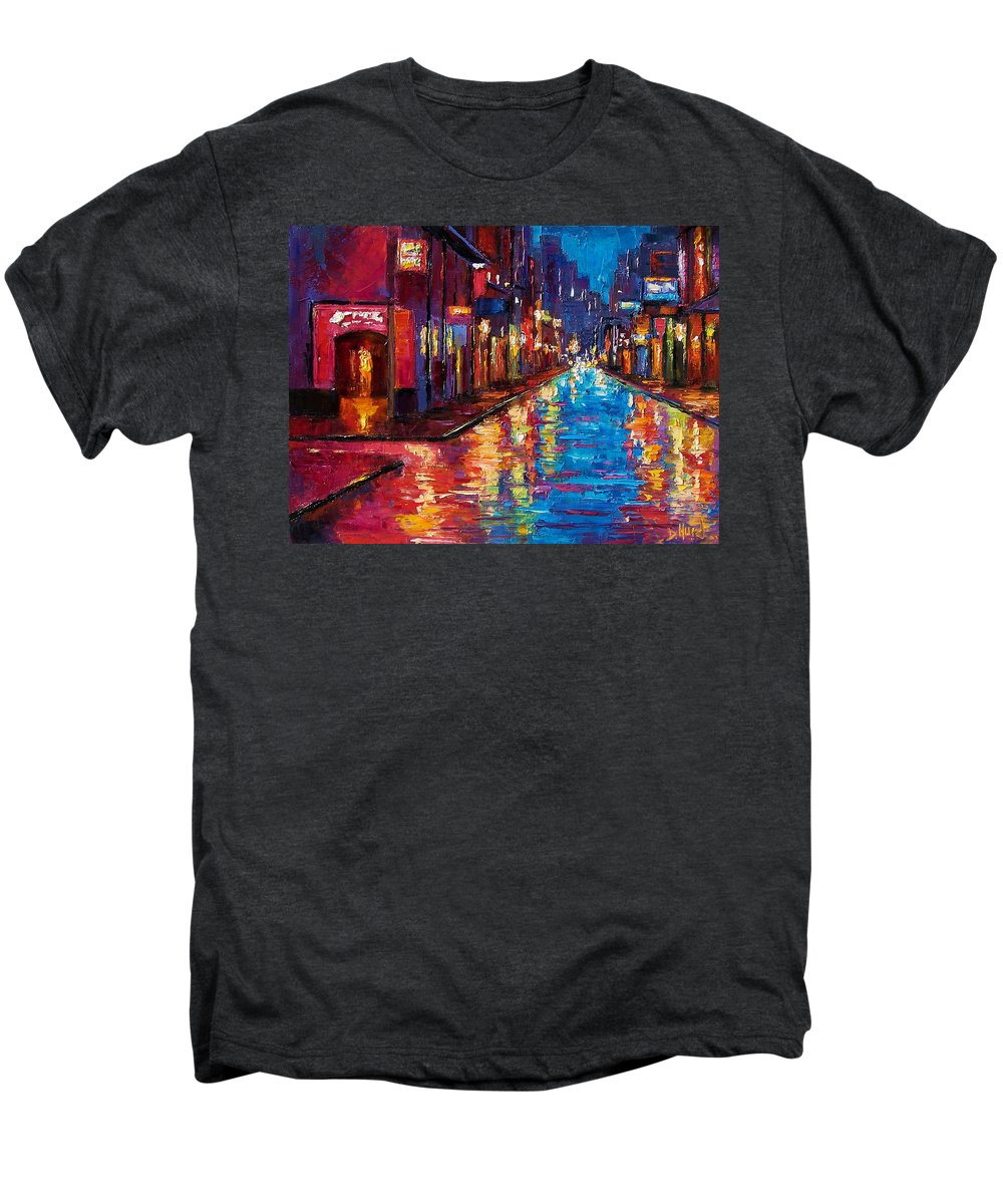 New Orleans Men's Premium T-Shirt featuring the painting New Orleans Magic by Debra Hurd