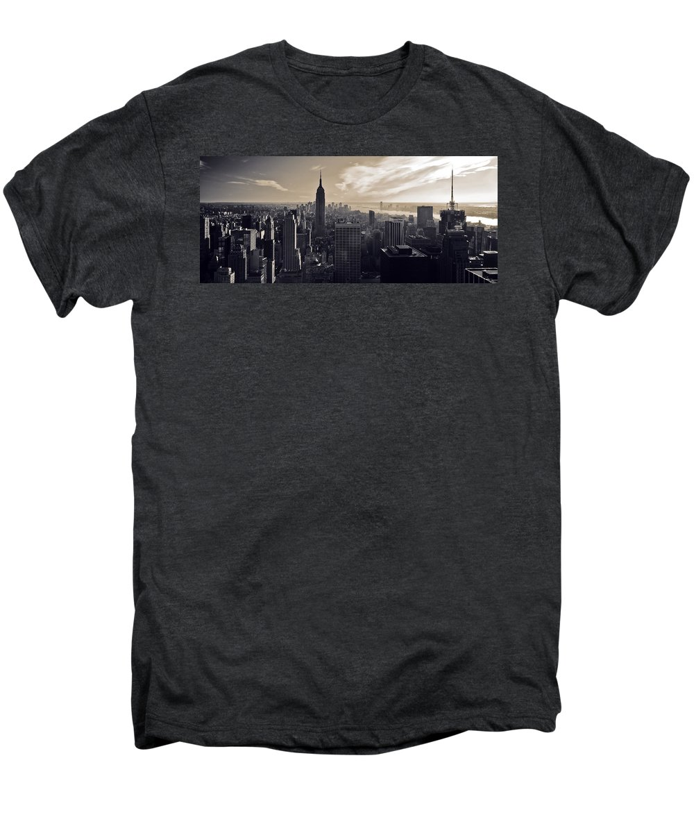 New York Men's Premium T-Shirt featuring the photograph New York by Dave Bowman