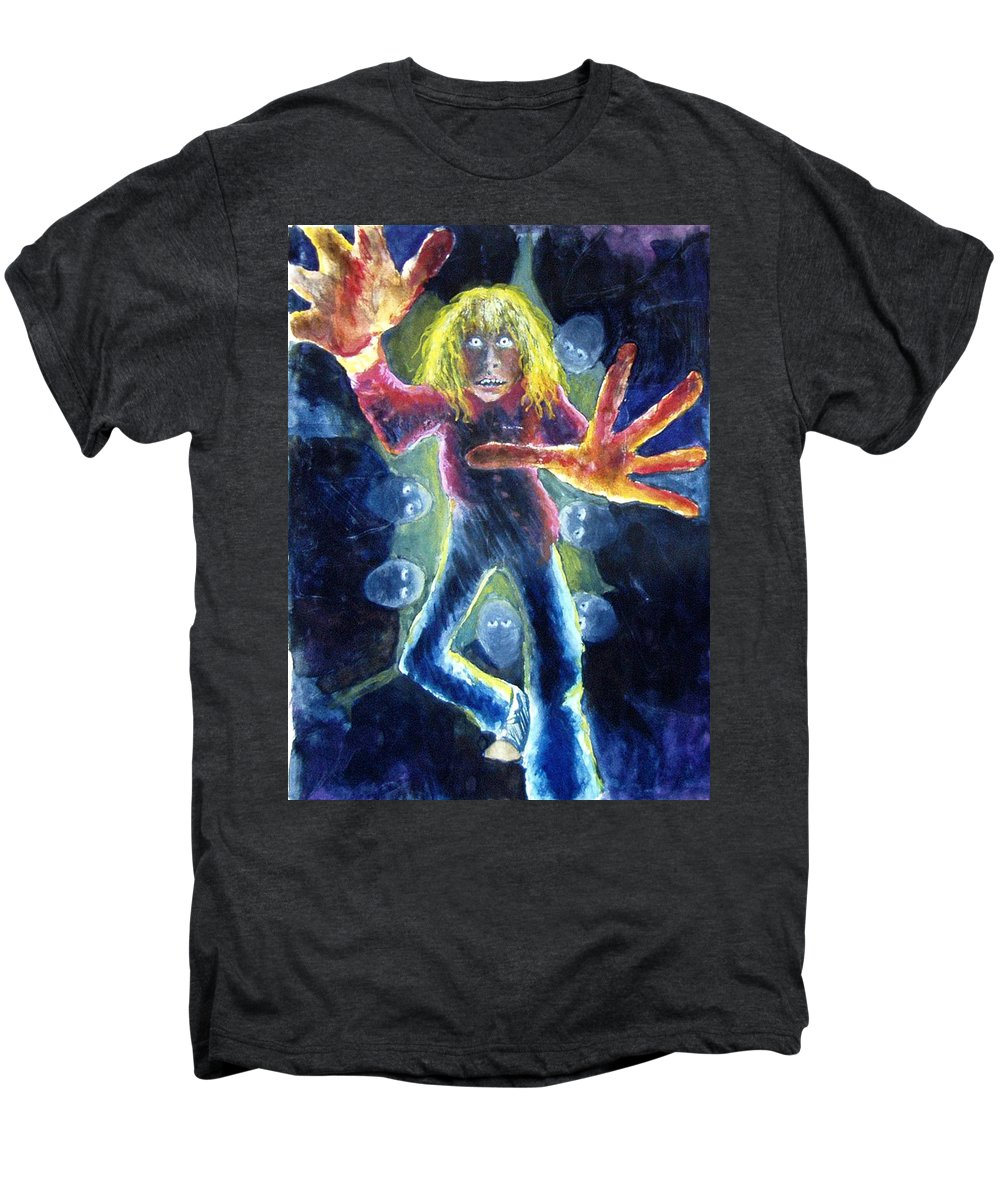 Nightmare Men's Premium T-Shirt featuring the painting Nightmare by Nancy Mueller