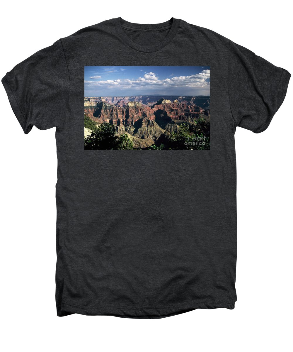 Grand Canyon; National Parks Men's Premium T-Shirt featuring the photograph North Rim by Kathy McClure