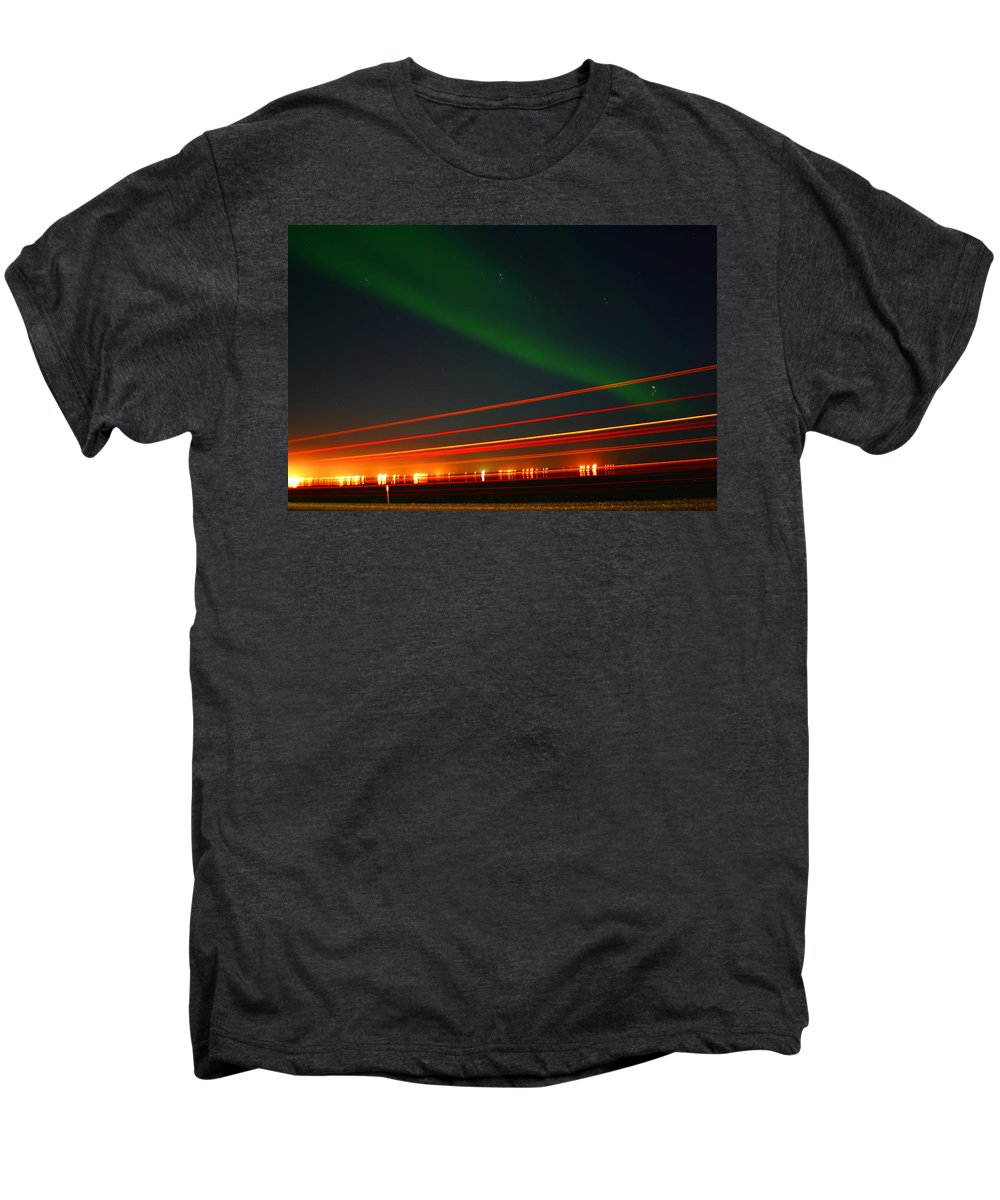 Northern Lights Men's Premium T-Shirt featuring the photograph Northern Lights by Anthony Jones