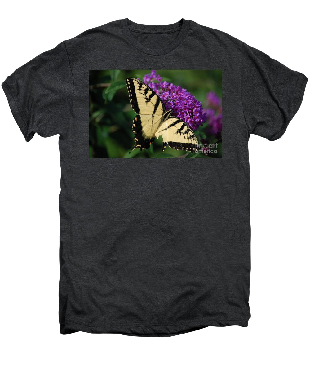 Butterfly Men's Premium T-Shirt featuring the photograph Nothing Is Perfect by Debbi Granruth