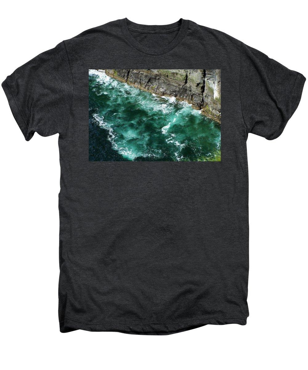 Irish Men's Premium T-Shirt featuring the photograph Nowhere To Go Cliffs Of Moher Ireland by Teresa Mucha