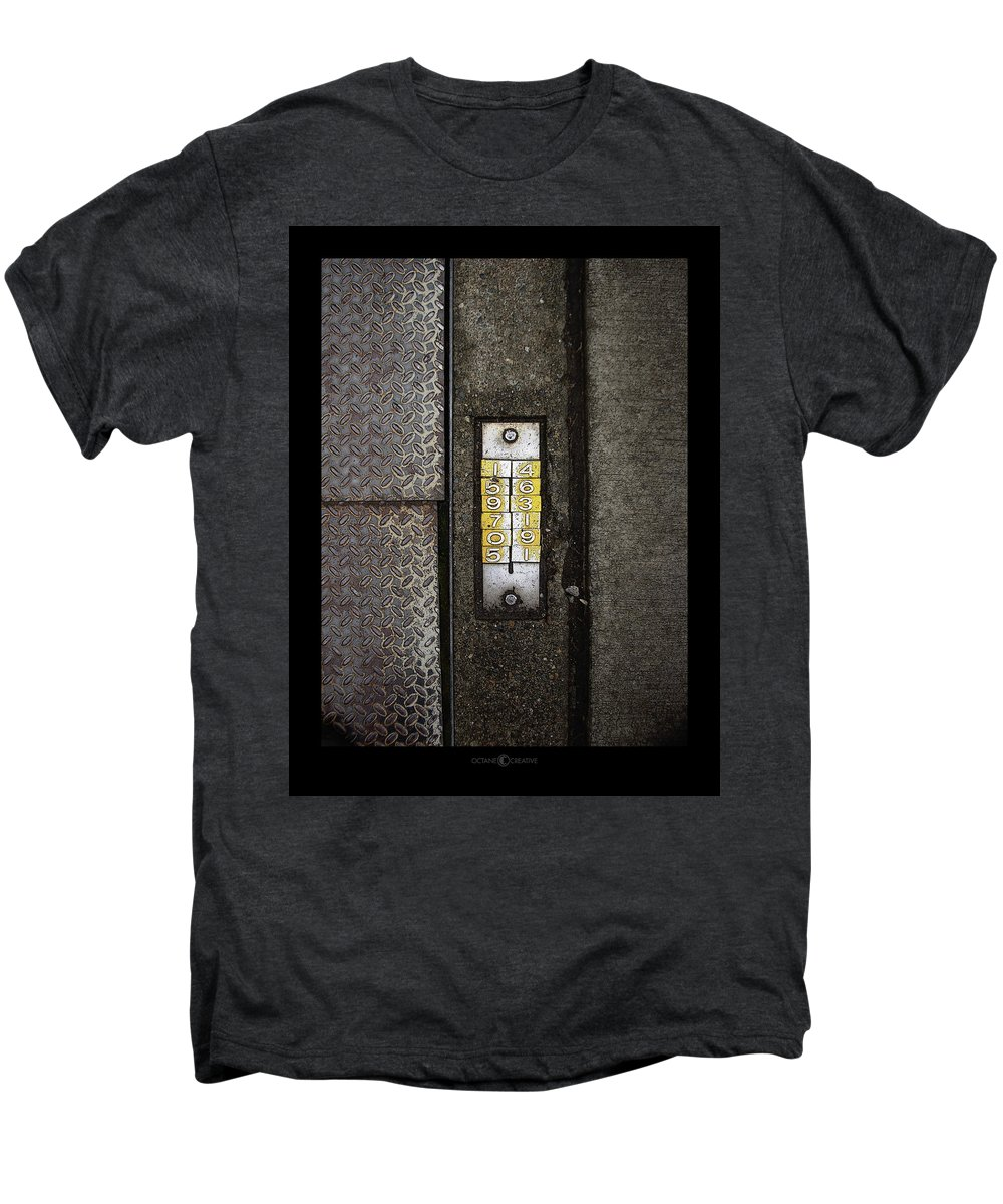 Numbers Men's Premium T-Shirt featuring the photograph Numbers On The Sidewalk by Tim Nyberg