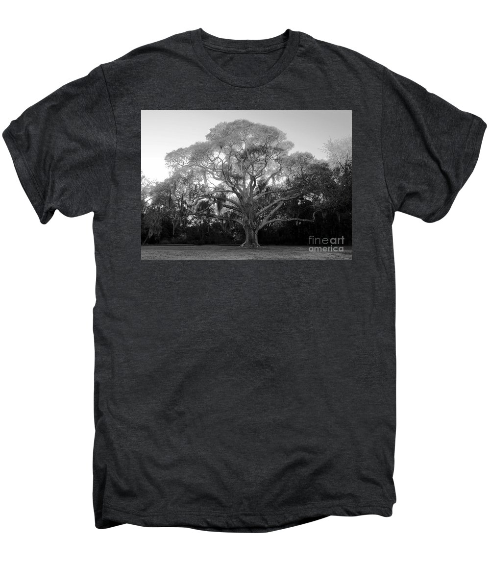 Oak Tree Men's Premium T-Shirt featuring the photograph Oak Tree by David Lee Thompson