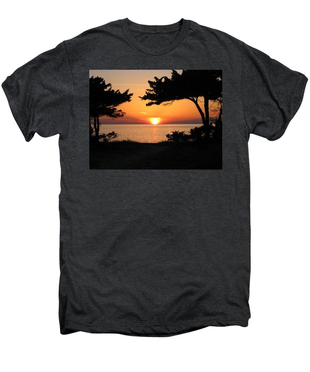 Ocracoke Men's Premium T-Shirt featuring the photograph Ocracoke Island Winter Sunset by Wayne Potrafka