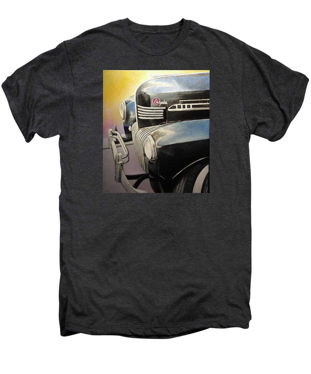Old Men's Premium T-Shirt featuring the painting Old Chrysler by Tomas Castano